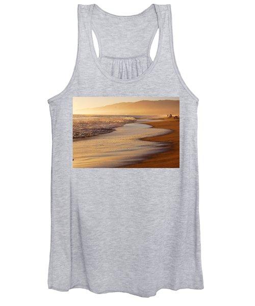 Sunset On A Beach Women's Tank Top