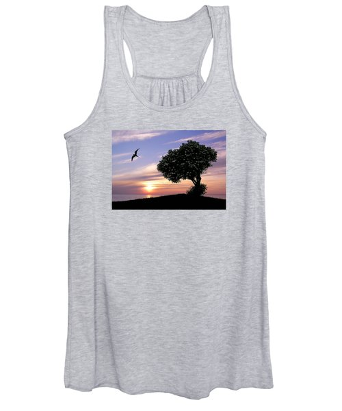 Sunset Tree Of Tranquility Women's Tank Top