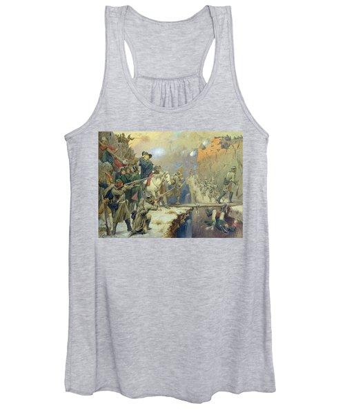 Suvorov Crossing The Devils Bridge In 1799, 1880 Wc On Paper Women's Tank Top