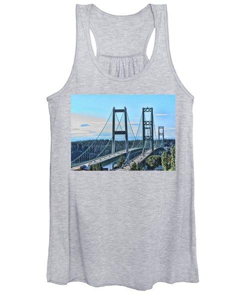 Tacoma Narrows Bridge 51 Women's Tank Top