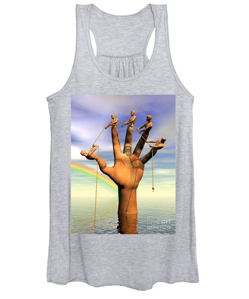 The Hand Is The Sum Of Its Fingers Women's Tank Top
