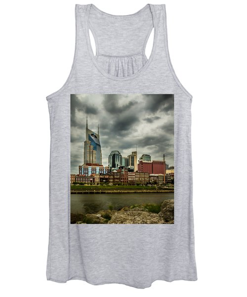 Tennessee - Nashville From Across The Cumberland River Women's Tank Top