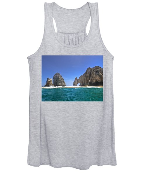 The Arch  Cabo San Lucas On A Low Tide Women's Tank Top