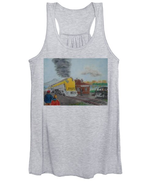 The Chesapeake And Ohio George Washington At South Portsmouth Station Women's Tank Top