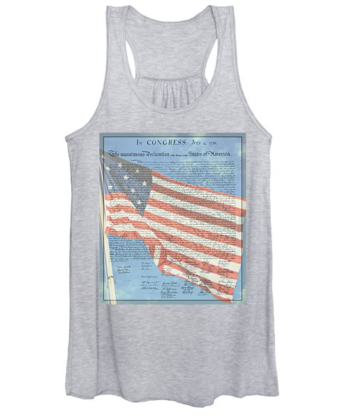 The Declaration Of Independence - Star-spangled Banner Women's Tank Top