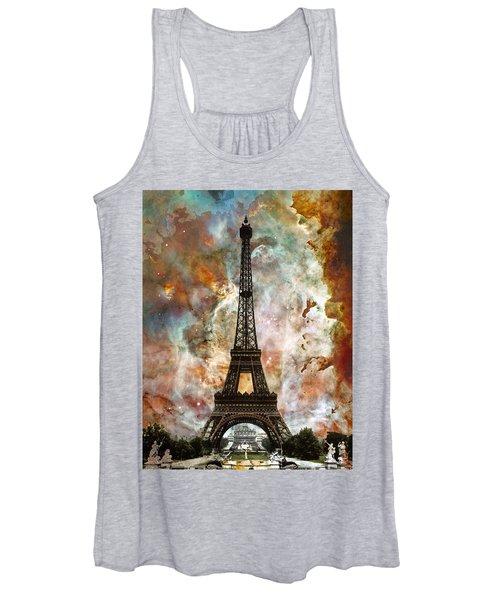 The Eiffel Tower - Paris France Art By Sharon Cummings Women's Tank Top