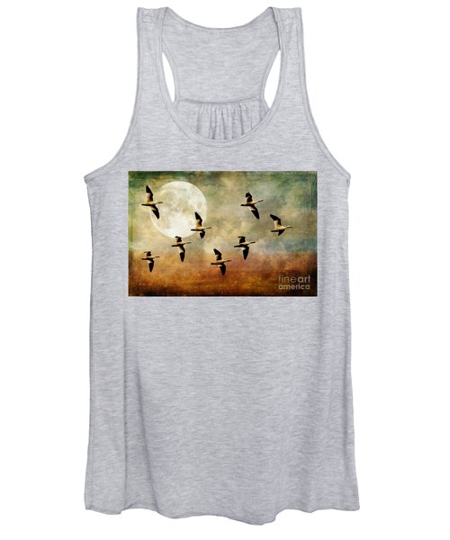 The Flight Of The Snow Geese Women's Tank Top