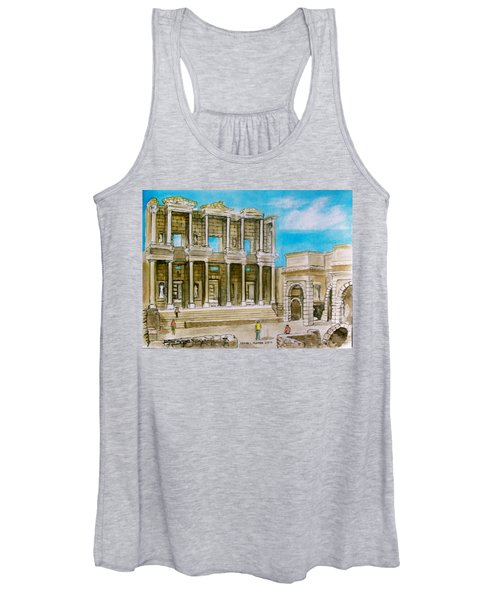 The Library At Ephesus Turkey Women's Tank Top