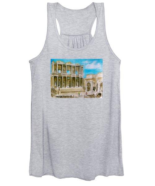 The Library At Ephesus Turkey Women's Tank Top