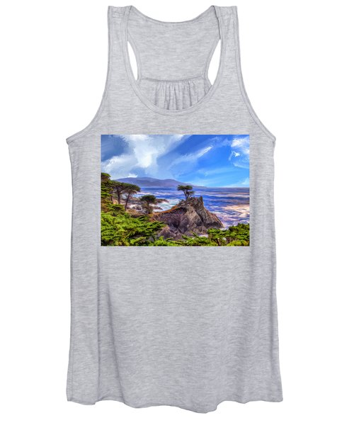 The Lone Cypress Women's Tank Top