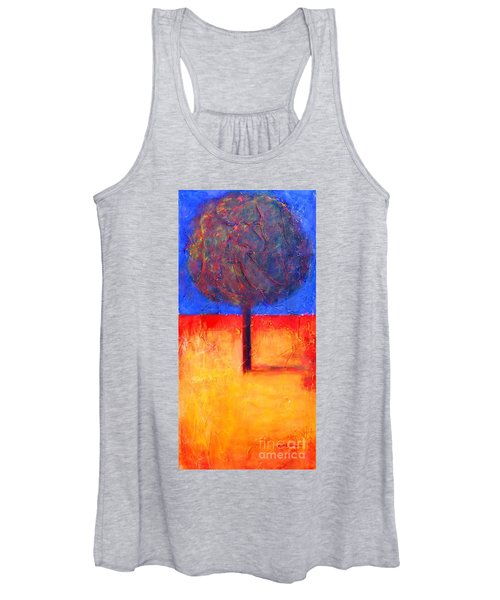 The Lonely Tree In Autumn Women's Tank Top