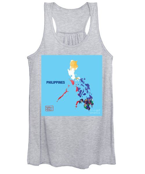 The Map Of Philippines Women's Tank Top