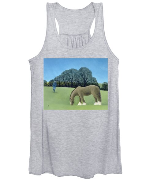 The Shire Horse, 2006 Oil On Canvas Women's Tank Top