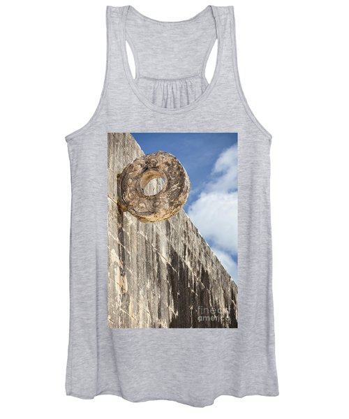 The Stone Ring At The Great Mayan Ball Court Of Chichen Itza Women's Tank Top