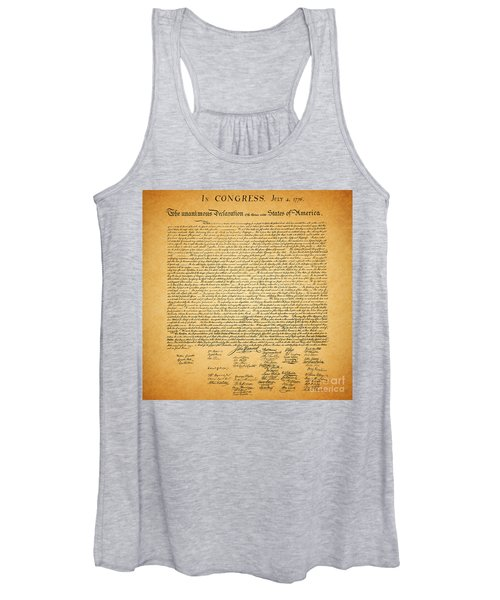 The United States Declaration Of Independence - Square Women's Tank Top