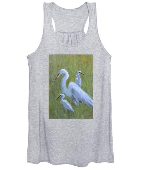Three Egrets  Women's Tank Top