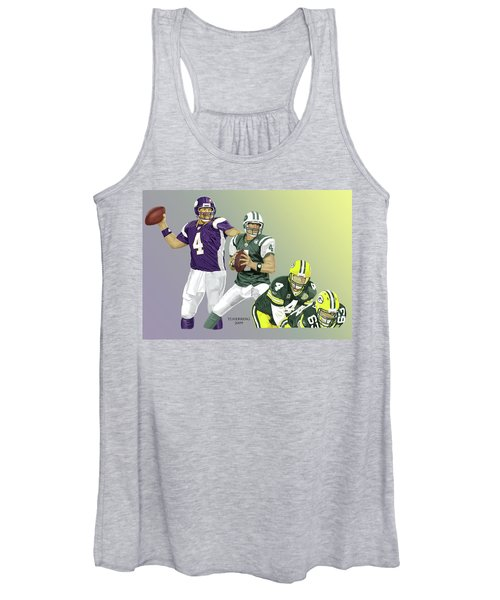 Three Stages Of Bret Favre Women's Tank Top