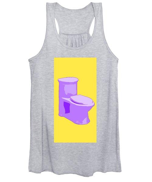 Toilette In Purple Women's Tank Top