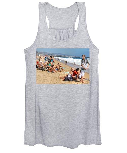 Tourist At Beach Women's Tank Top