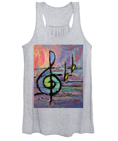 Treble Clef Women's Tank Top