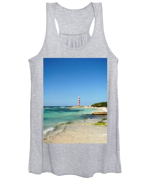 Tropical Seascape With Lighthouse Women's Tank Top