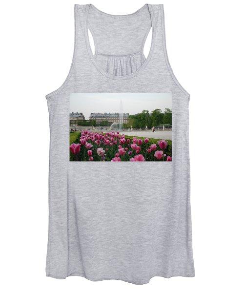 Tuileries Garden In Bloom Women's Tank Top
