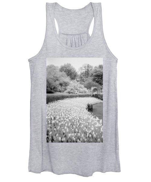 Tulips And Bench II Women's Tank Top