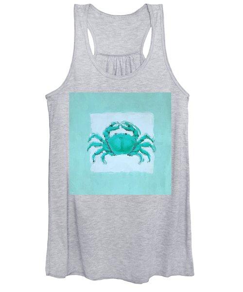 Turquoise Seashells I Women's Tank Top