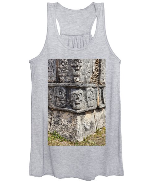 Tzompantli Or Platform Of The Skulls At Chichen Itza Women's Tank Top