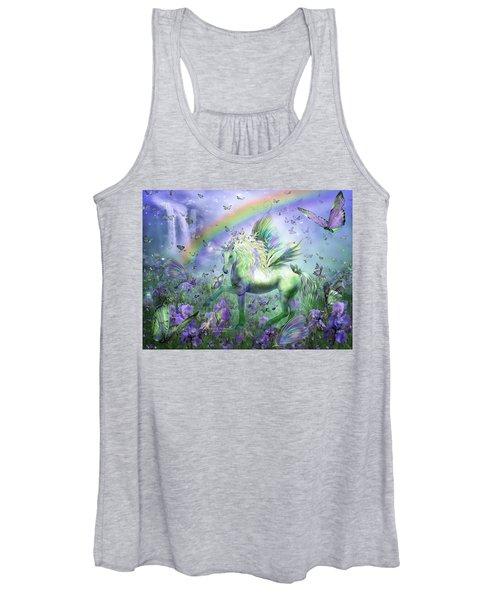 Unicorn Of The Butterflies Women's Tank Top