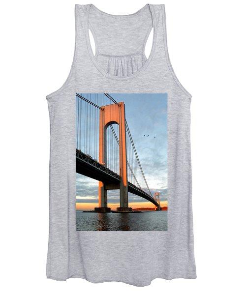 Verrazano Bridge At Sunrise - Verrazano Narrows Women's Tank Top