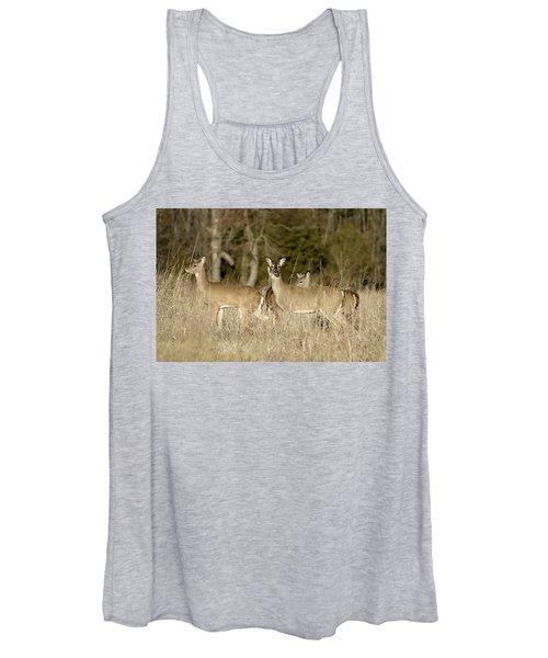 Vigilant White-tailed Deer Women's Tank Top