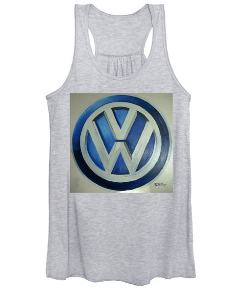 Vw Logo Blue Women's Tank Top