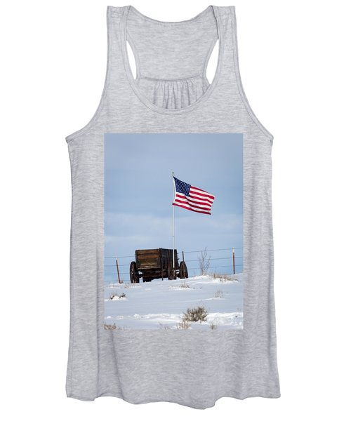 Wagon And Flag Women's Tank Top
