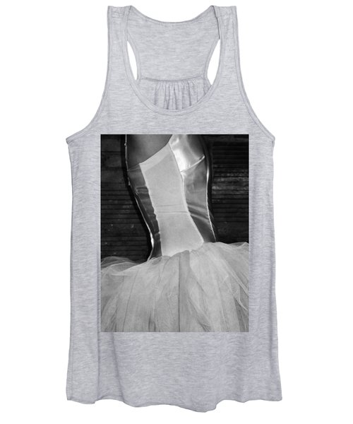 Waiting Her Turn Bw Women's Tank Top