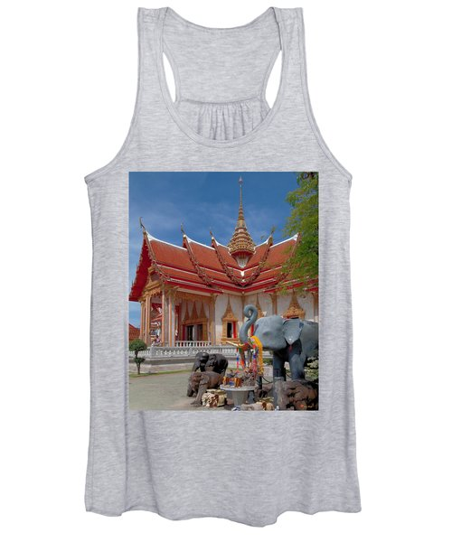 Wat Chalong Wiharn And Elephant Tribute Dthp045 Women's Tank Top