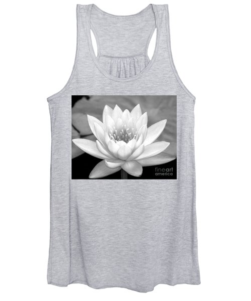Water Lily In Black And White Women's Tank Top
