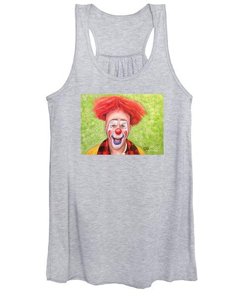 Watercolor Clown #8 Steve Copeland Women's Tank Top