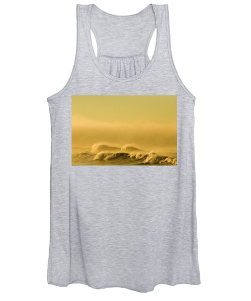 Waves Crash To The Beach At Cape Women's Tank Top