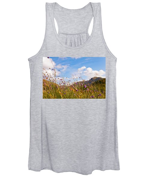 When The Sun Is Shining Everything Around Smiling Towards. Scotland Women's Tank Top