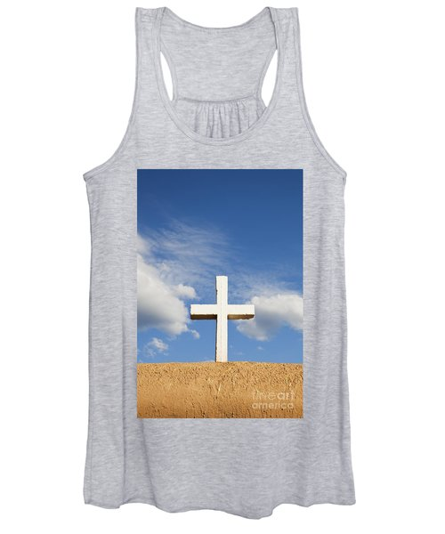 White Cross On Adobe Wall Women's Tank Top