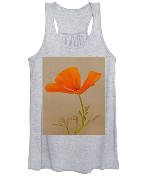Wild California Poppy No 1 Women's Tank Top