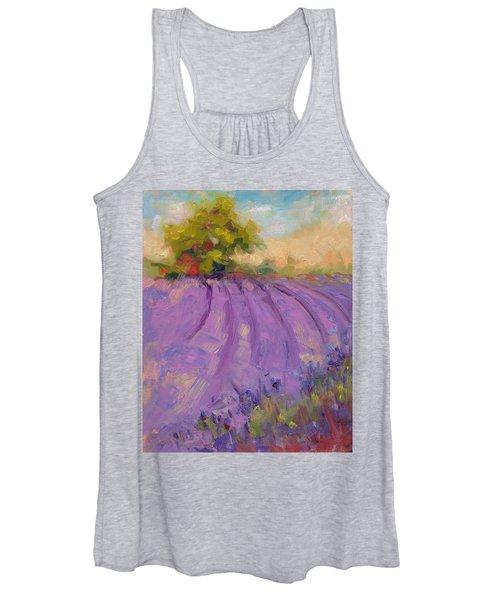 Wildrain Lavender Farm Women's Tank Top
