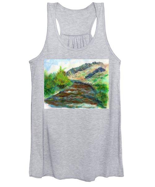 Willow Creek In Spring Women's Tank Top