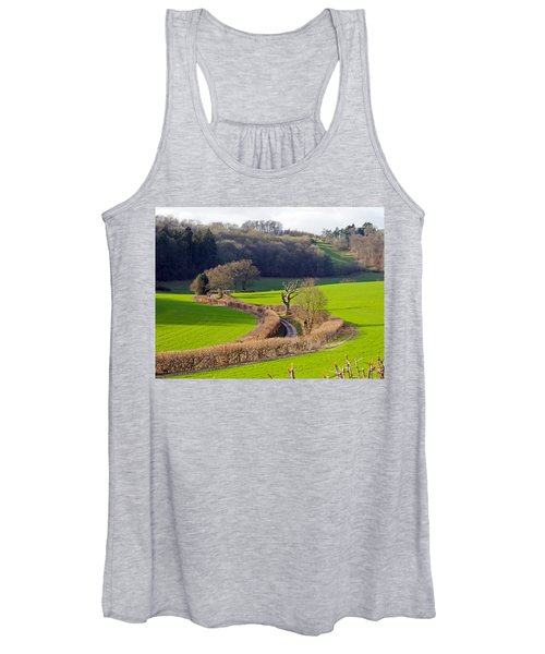 Winding Country Lane Women's Tank Top