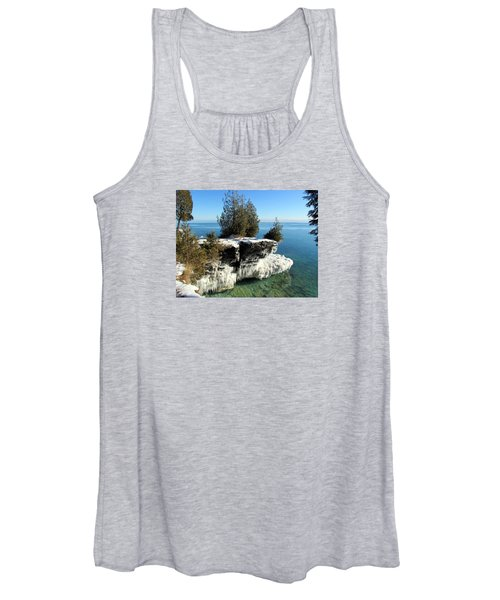 Winter At Cave Point Women's Tank Top