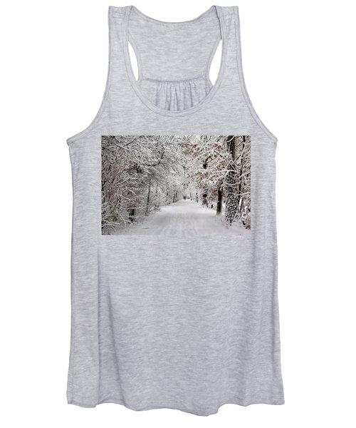 Winter Walk In Fairytale  Women's Tank Top