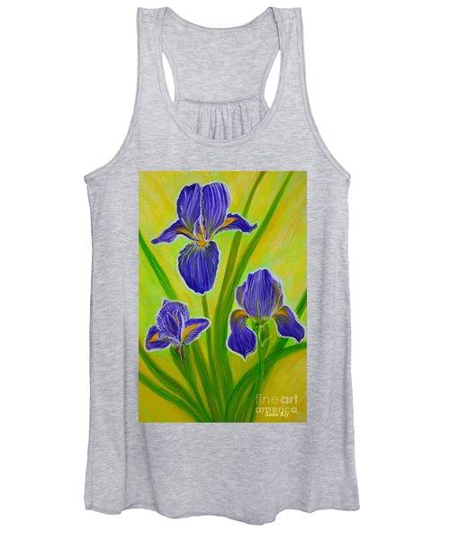 Wonderful Iris Flowers 3 Women's Tank Top
