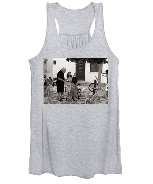 Yaya The Kids And The Cat In A Tree Women's Tank Top