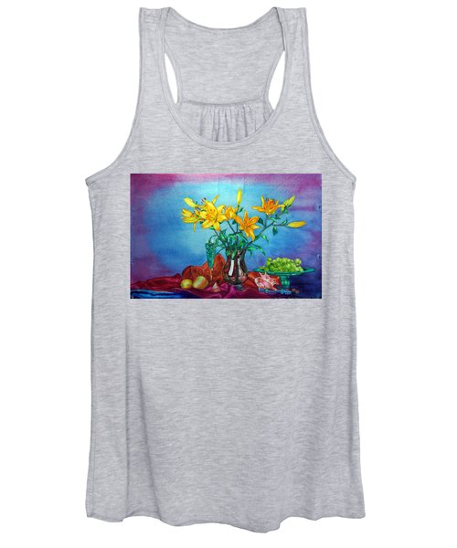 Yellow Lily In A Vase Women's Tank Top